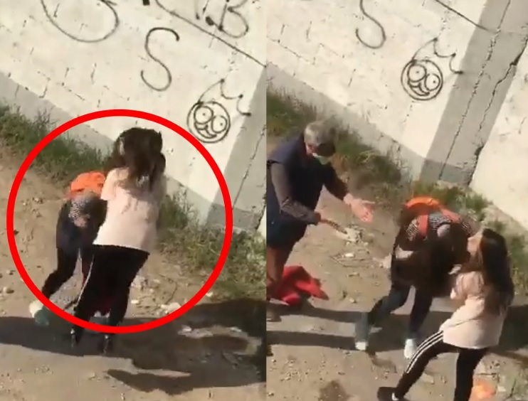 VIDEO/ Sherri banal që po kritikohet nga rrjeti: Dy vajza kapin prej flokësh njëra tjetrën, një burrë mezi i ndalon